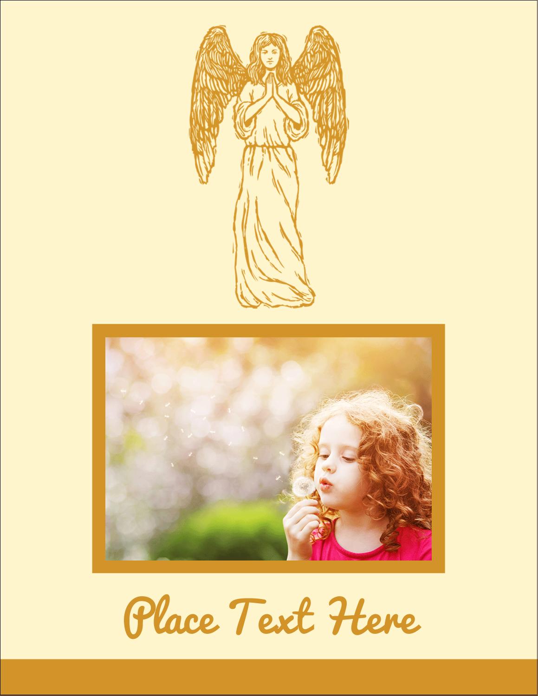 """4¼"""" x 5½"""" Postcard - Religious Woodcut"""