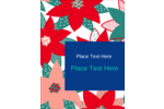 Add a pop of colour to custom projects with pretty pre-designed Poinsettia templates.