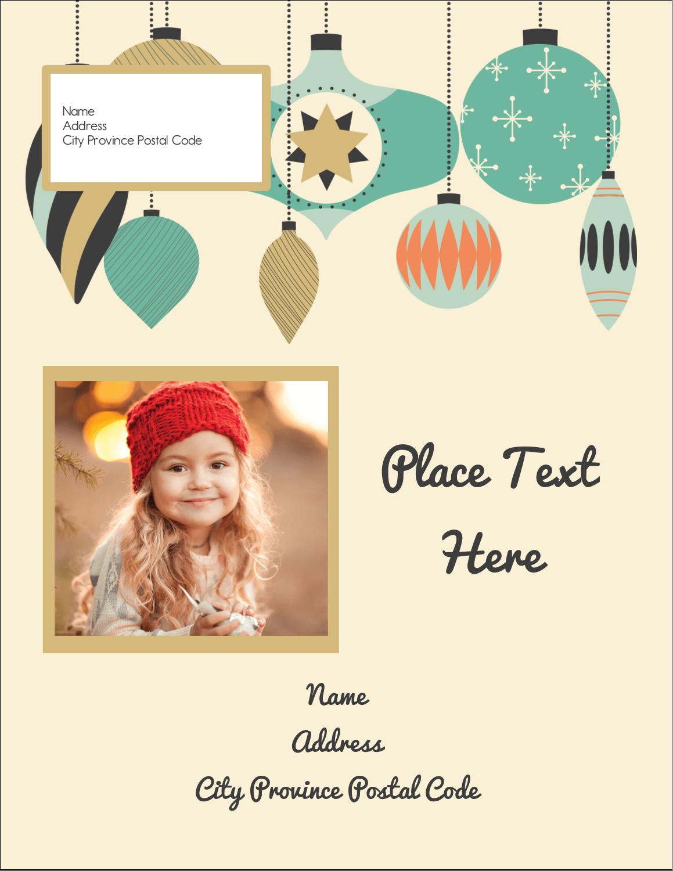 """4¼"""" x 5½"""" Postcard - Ornament Pattern"""