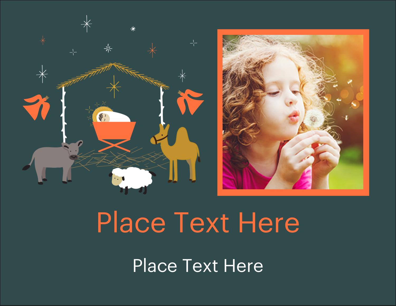"4¼"" x 5½"" Postcard - Nativity Scene Animals"