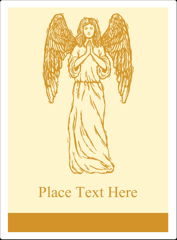 "4¾"" x 3½"" Rectangular Label - Religious Woodcut"