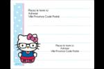 Hello Kitty avec des lunettes Étiquettes d'expédition - gabarit prédéfini. <br/>Utilisez notre logiciel Avery Design & Print Online pour personnaliser facilement la conception.
