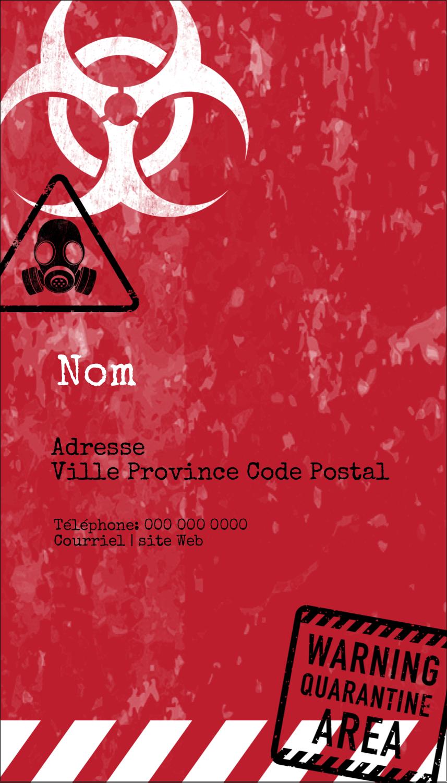 "3½"" x 2"" Carte d'affaire - Apocalypse zombie d'Halloween"