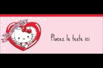 Hello Kitty Saint-Valentin Affichette - gabarit prédéfini. <br/>Utilisez notre logiciel Avery Design & Print Online pour personnaliser facilement la conception.