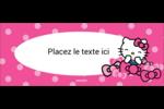 Hello Kitty rigole Affichette - gabarit prédéfini. <br/>Utilisez notre logiciel Avery Design & Print Online pour personnaliser facilement la conception.