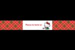 Souhaits chaleureux pour la période des fêtes Étiquettes enveloppantes - gabarit prédéfini. <br/>Utilisez notre logiciel Avery Design & Print Online pour personnaliser facilement la conception.