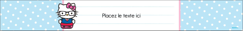 """1½"""" x 2½"""" Étiquettes ovales - Hello Kitty avec des lunettes"""