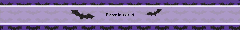 """1½"""" x 2½"""" Étiquettes ovales - Chauves-souris d'Halloween"""