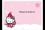 Canne en bonbon de Noël Hello Kitty Étiquettes rectangulaires - gabarit prédéfini. <br/>Utilisez notre logiciel Avery Design & Print Online pour personnaliser facilement la conception.