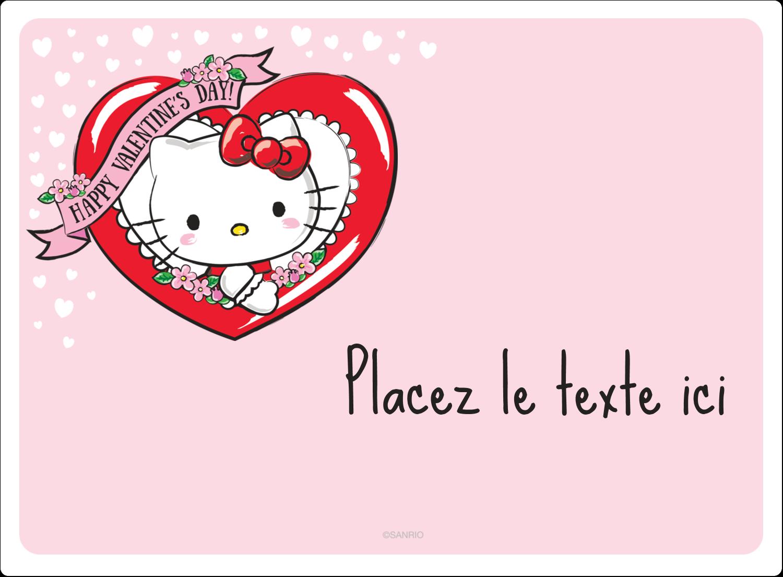 "2½"" Diameter Étiquettes rondes - Hello Kitty Saint-Valentin"
