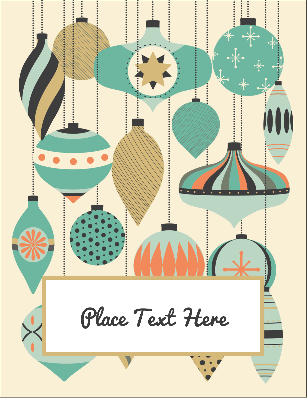 """5½"""" x 4¼"""" Postcard - Ornament Pattern"""