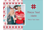 pre-designed Poinsettia Sweater templates add whimsical holiday charm to custom projects.