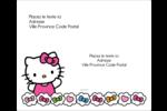 Hello Kitty Cœurs et Nœuds Étiquettes d'expédition - gabarit prédéfini. <br/>Utilisez notre logiciel Avery Design & Print Online pour personnaliser facilement la conception.