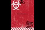 Apocalypse zombie d'Halloween Carte Postale - gabarit prédéfini. <br/>Utilisez notre logiciel Avery Design & Print Online pour personnaliser facilement la conception.