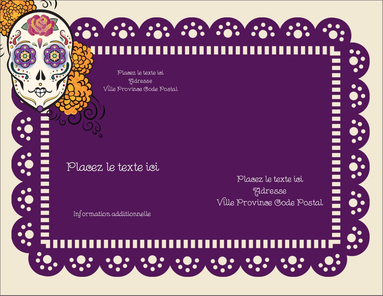 """4¼"""" X 5½"""" Carte Postale - Halloween, jour des Morts"""