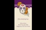 Halloween, jour des Morts Carte d'affaire - gabarit prédéfini. <br/>Utilisez notre logiciel Avery Design & Print Online pour personnaliser facilement la conception.