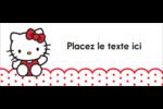 Salut Hello Kitty Affichette - gabarit prédéfini. <br/>Utilisez notre logiciel Avery Design & Print Online pour personnaliser facilement la conception.