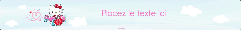 """1½"""" x 2½"""" Étiquettes ovales - Hello Kitty Saint-Valentin - Mon cœur monte pour vous"""