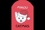 Chat de Noël Étiquettes rectangulaires - gabarit prédéfini. <br/>Utilisez notre logiciel Avery Design & Print Online pour personnaliser facilement la conception.