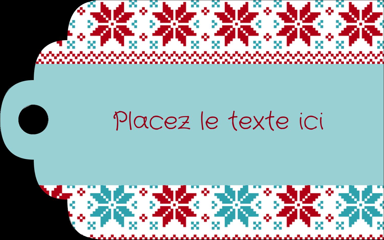 """2"""" x 1⅛"""" Étiquettes imprimables - Chandail de poinsettias"""