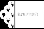 Motif de renne noir et blanc  Étiquettes imprimables - gabarit prédéfini. <br/>Utilisez notre logiciel Avery Design & Print Online pour personnaliser facilement la conception.