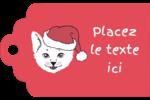 Chat de Noël Étiquettes imprimables - gabarit prédéfini. <br/>Utilisez notre logiciel Avery Design & Print Online pour personnaliser facilement la conception.