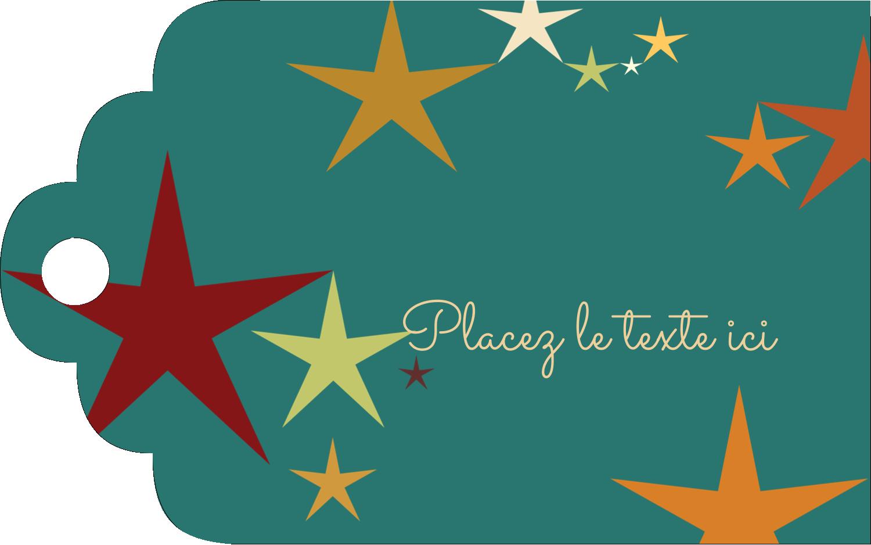 """2"""" x 1⅛"""" Étiquettes imprimables - Étoiles du Nouvel An"""