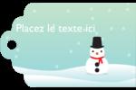 Petit bonhomme de neige Étiquettes imprimables - gabarit prédéfini. <br/>Utilisez notre logiciel Avery Design & Print Online pour personnaliser facilement la conception.