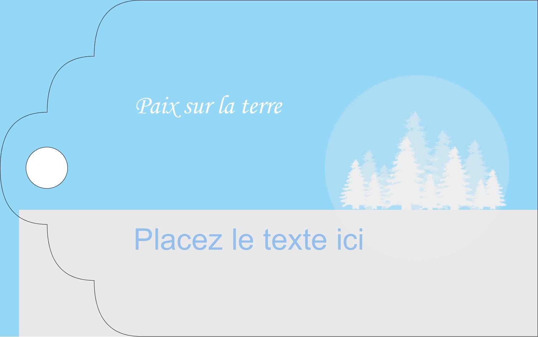 """2"""" x 1⅛"""" Étiquettes imprimables - Forêt bleue"""