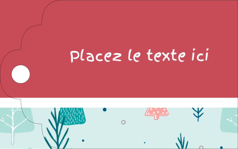"""2"""" x 1⅛"""" Étiquettes imprimables - Les gabarits Motif d'arbres pour votre prochain projet des Fêtes"""