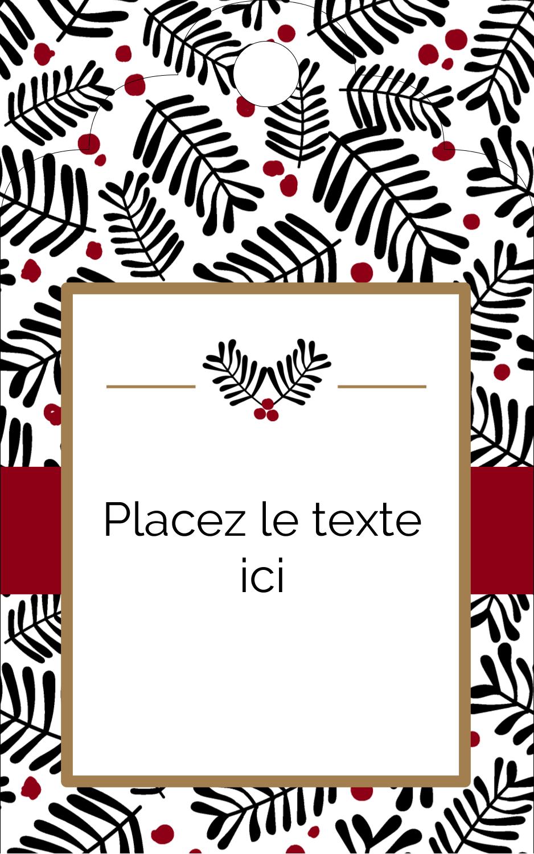 """1⅛"""" x 2"""" Étiquettes imprimables - Fleurs de Noël"""