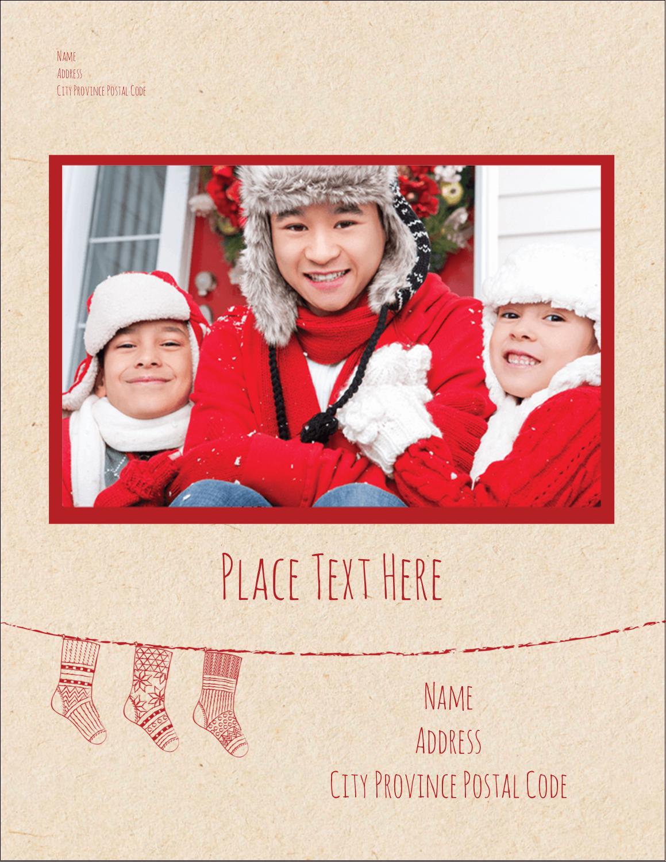 """4¼"""" x 5½"""" Postcard - Hanging Stockings"""