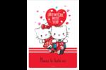 Hello Kitty et Cher Daniel Valentin Étiquettes rectangulaires - gabarit prédéfini. <br/>Utilisez notre logiciel Avery Design & Print Online pour personnaliser facilement la conception.