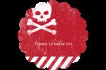 Apocalypse zombie d'Halloween Étiquettes rondes - gabarit prédéfini. <br/>Utilisez notre logiciel Avery Design & Print Online pour personnaliser facilement la conception.