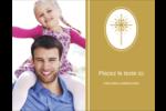 Étoile dorée de Bethléem Carte Postale - gabarit prédéfini. <br/>Utilisez notre logiciel Avery Design & Print Online pour personnaliser facilement la conception.