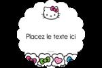 Hello Kitty Cœurs et Nœuds Étiquettes rondes - gabarit prédéfini. <br/>Utilisez notre logiciel Avery Design & Print Online pour personnaliser facilement la conception.