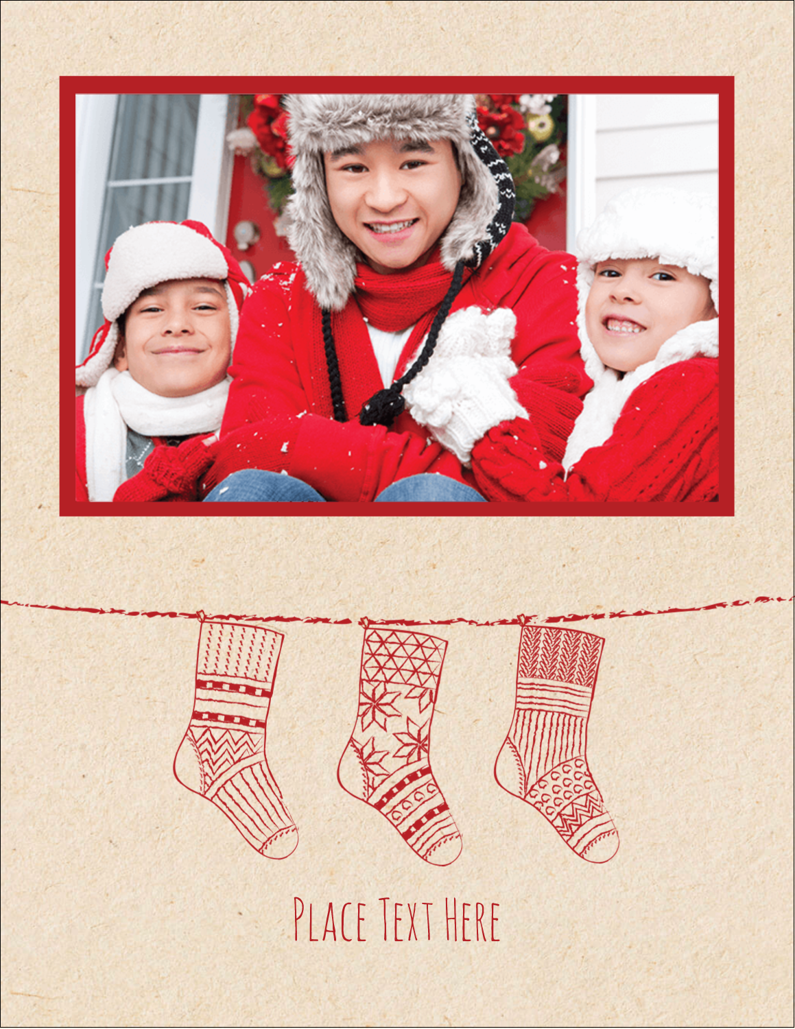 "5½"" x 4¼"" Postcard - Hanging Stockings"