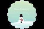 Petit bonhomme de neige Étiquettes rondes - gabarit prédéfini. <br/>Utilisez notre logiciel Avery Design & Print Online pour personnaliser facilement la conception.