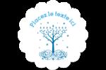 Arbre de Hanoukka Étiquettes rondes - gabarit prédéfini. <br/>Utilisez notre logiciel Avery Design & Print Online pour personnaliser facilement la conception.
