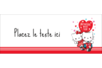 Hello Kitty et Cher Daniel Valentin Affichette - gabarit prédéfini. <br/>Utilisez notre logiciel Avery Design & Print Online pour personnaliser facilement la conception.