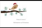 Oiseau père Noël sur une branche Étiquettes badges autocollants - gabarit prédéfini. <br/>Utilisez notre logiciel Avery Design & Print Online pour personnaliser facilement la conception.