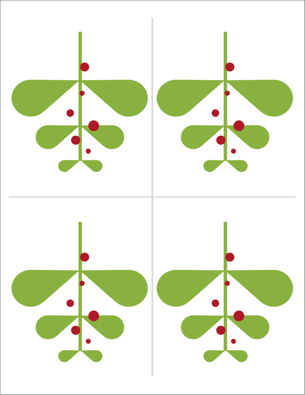 "8½"" x 11"" Magnet Sheets - Simple Mistletoe"