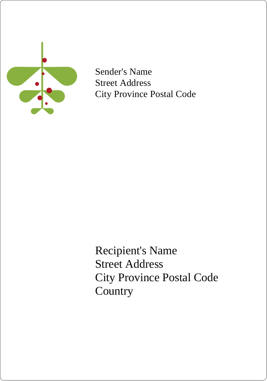 "5"" x 3½"" Shipping Label - Simple Mistletoe"