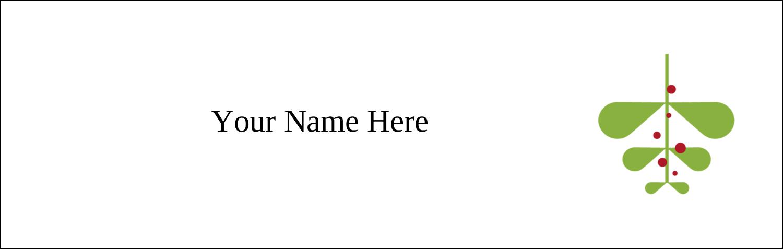 "3½"" x 11"" Tent Card - Simple Mistletoe"