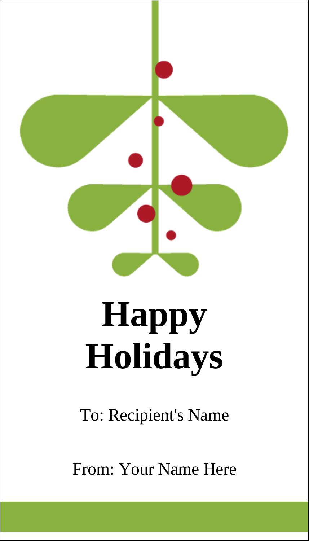 "3½"" x 2"" Business Card - Simple Mistletoe"