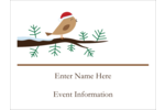 Add a dose of whimsy to custom projects with pre-designed Santa Bird on Branch templates.