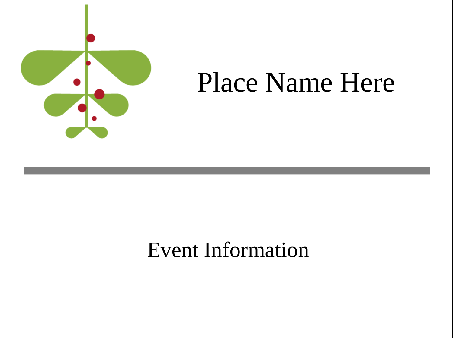 "3"" x 4"" Name Tags - Simple Mistletoe"