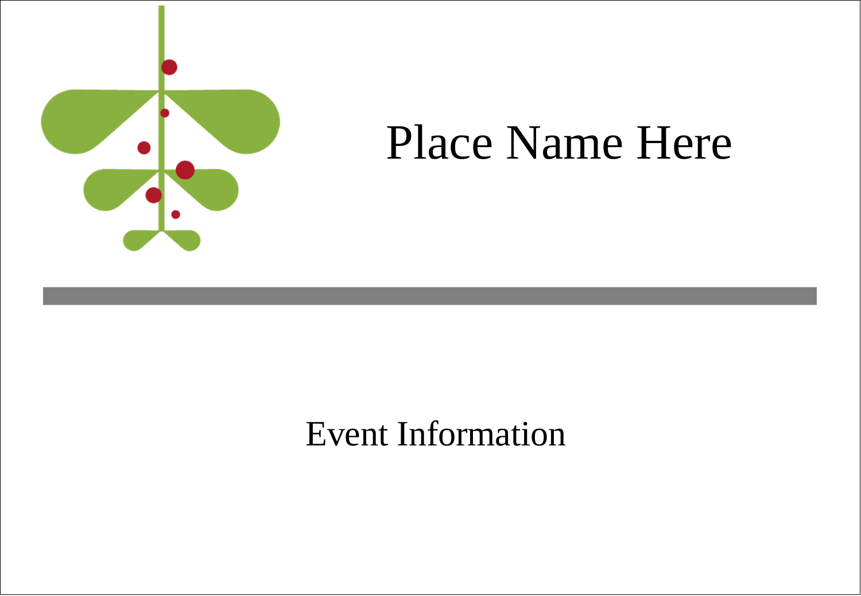 "3⅜"" x 2⅓"" Name Badge - Simple Mistletoe"