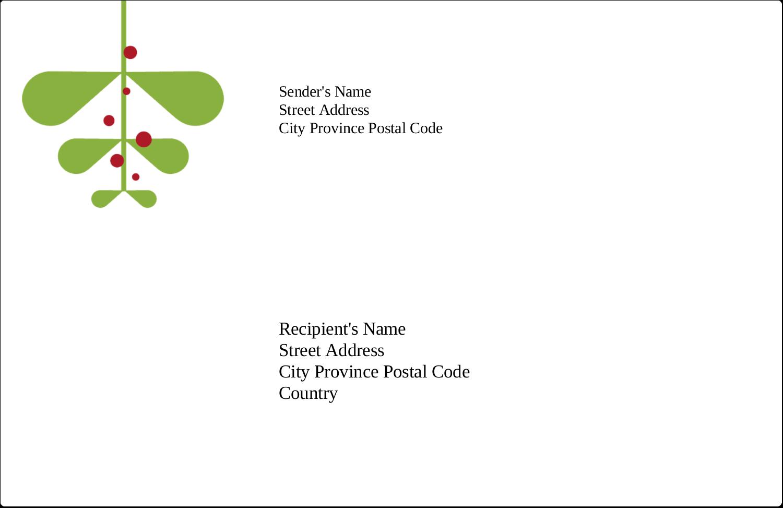 "5½"" x 8½"" Shipping Label - Simple Mistletoe"
