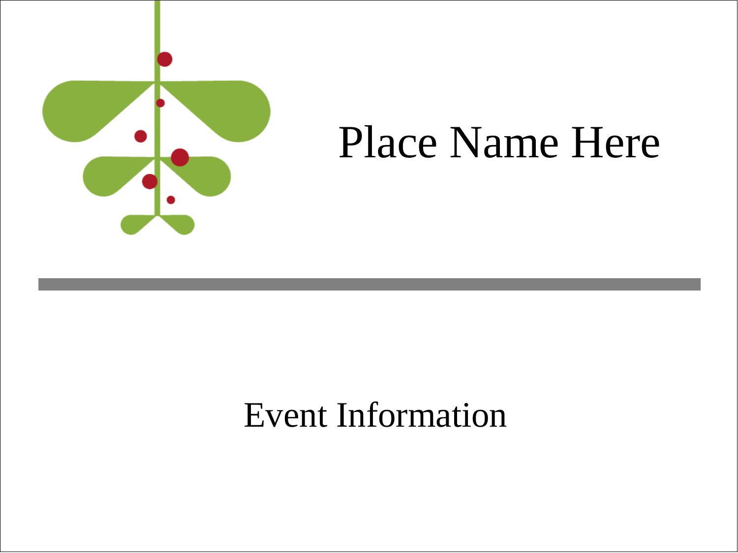 "4"" x 3"" Name Tags - Simple Mistletoe"